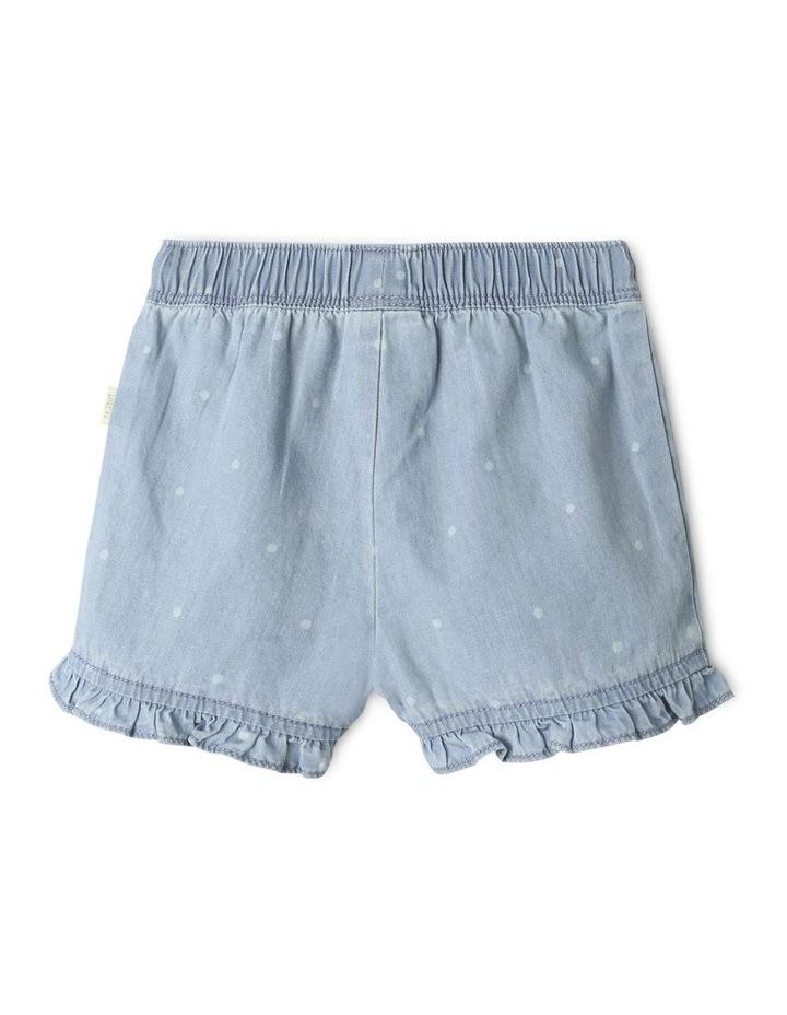 Essential Polka Dot Shorts Light Blue image 4