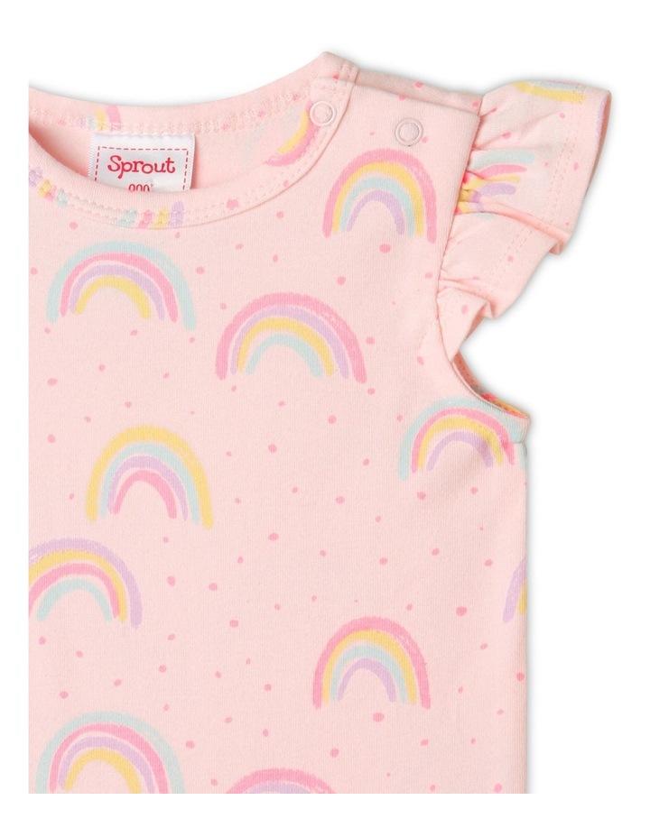 Organic Essential Rainbow Bodysuit Pale Pink image 2