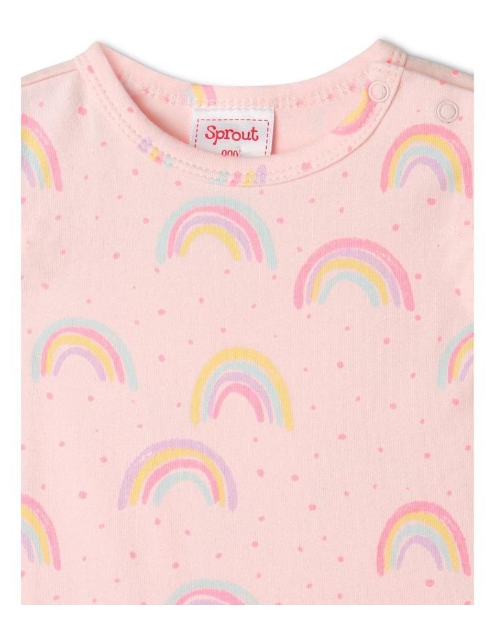 Organic Essential Rainbow Bodysuit Pale Pink image 4