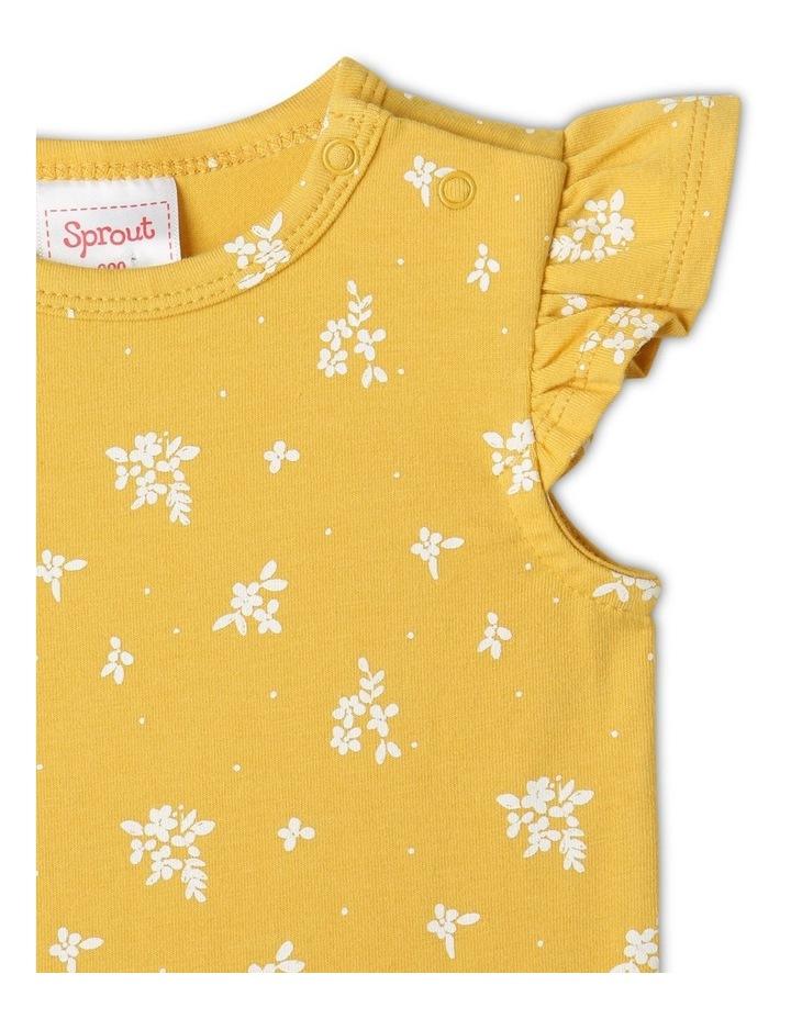 Organic Essential Bouquet Bodysuit Mustard image 2