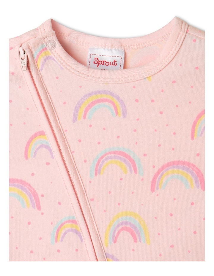 Organic Essential Rainbow Coverall Pale Pink image 2