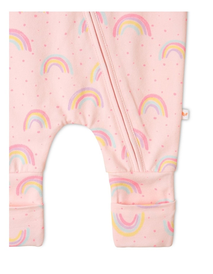 Organic Essential Rainbow Coverall Pale Pink image 4