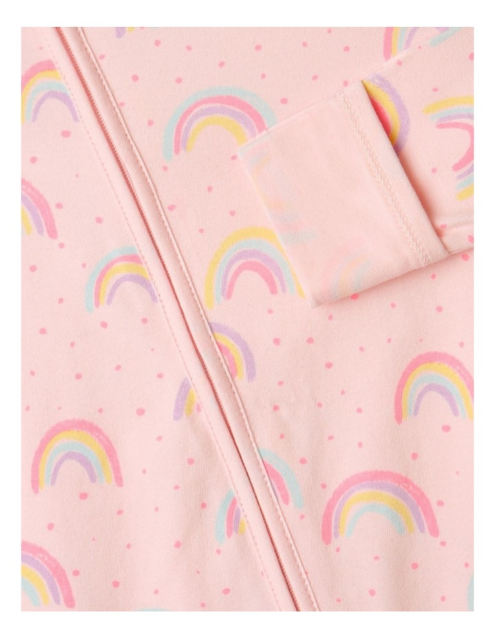 Organic Essential Rainbow Coverall Pale Pink image 5