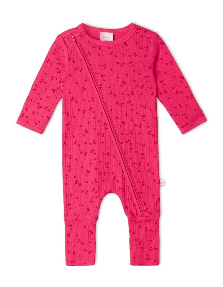 Organic Essential Coverall Cherry image 1
