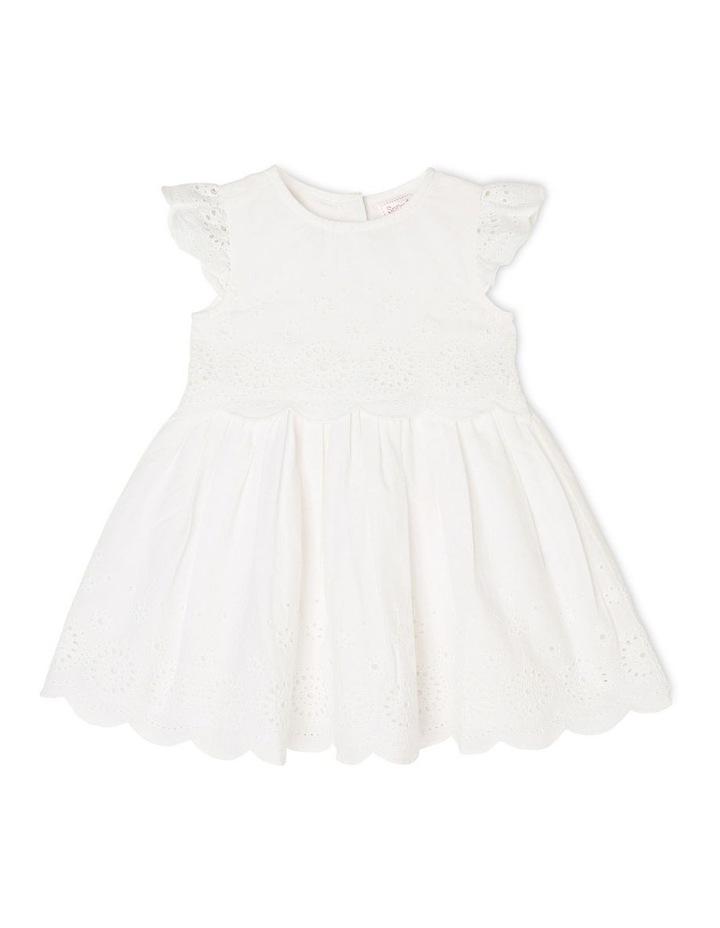 Broderie Flutter Sleeve Dress image 1