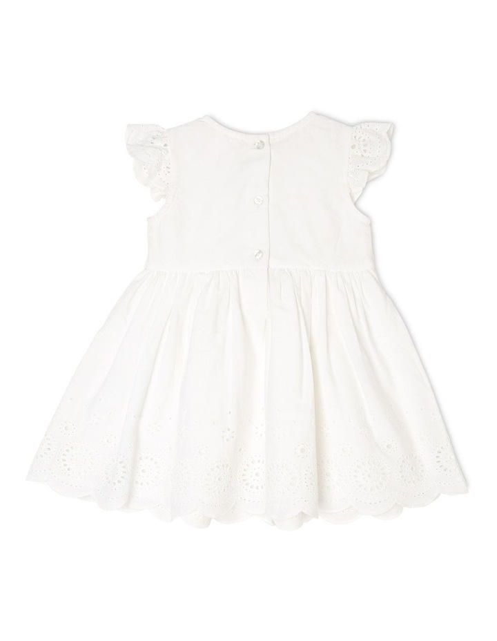 Broderie Flutter Sleeve Dress image 2