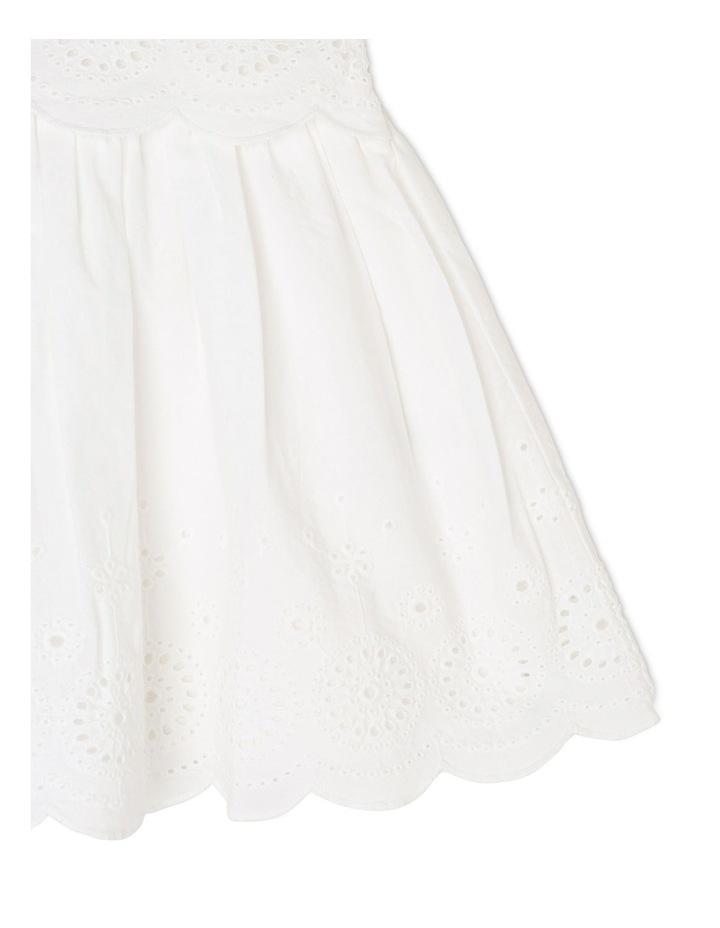 Broderie Flutter Sleeve Dress image 4