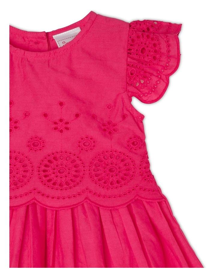 Broderie Flutter Sleeve Dress image 3