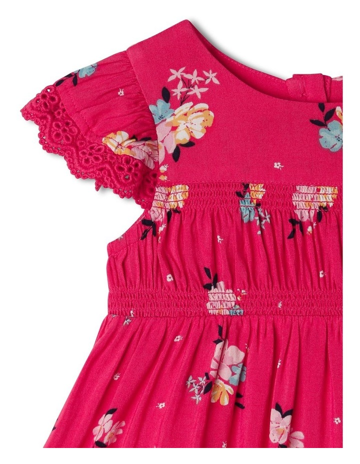 Woven Floral Shirred Dress image 2
