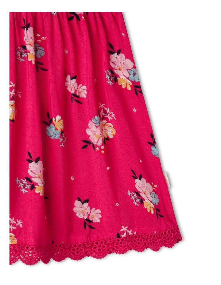 Woven Floral Shirred Dress image 5