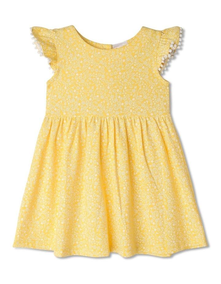 Pom Pom Flutter Sleeve Heart Floral Dress image 1