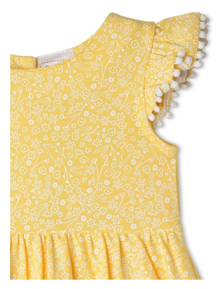 Pom Pom Flutter Sleeve Heart Floral Dress image 2