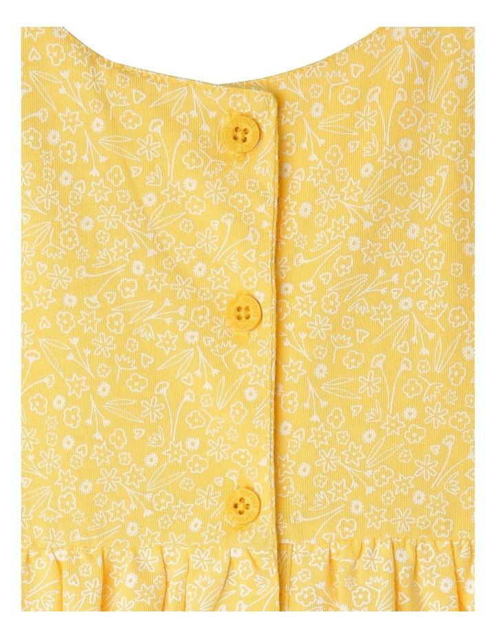 Pom Pom Flutter Sleeve Heart Floral Dress image 3