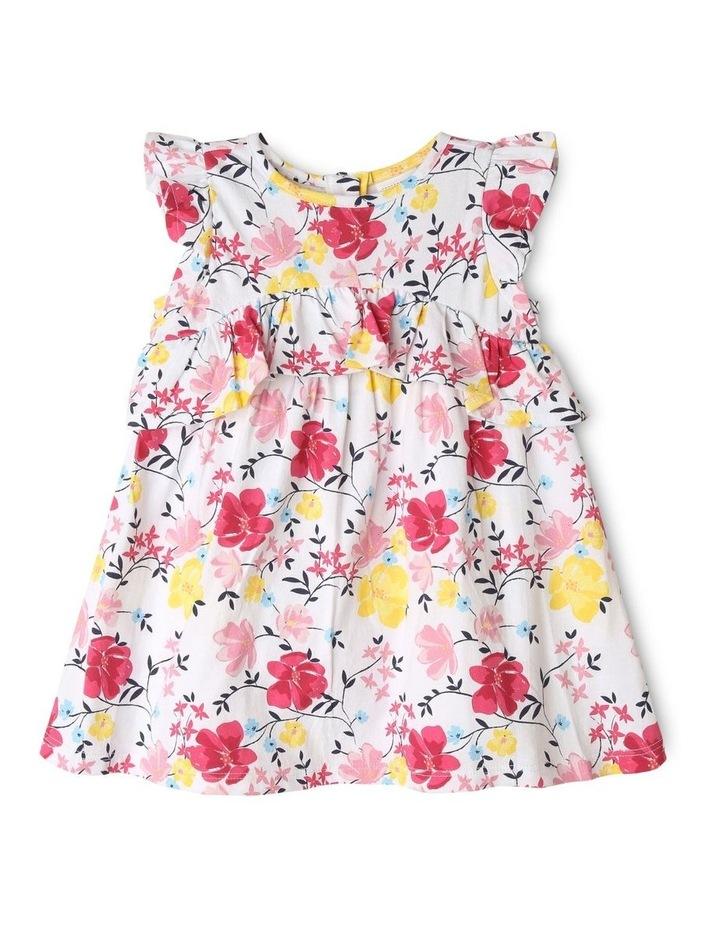 Ruffle Floral & Vines Print Dress image 1