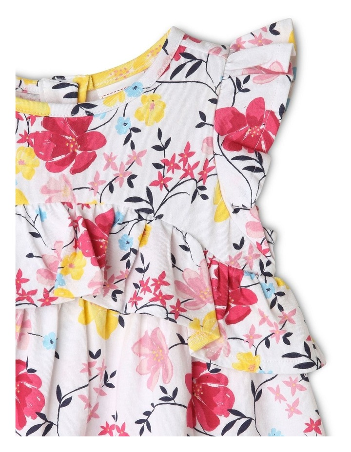 Ruffle Floral & Vines Print Dress image 2