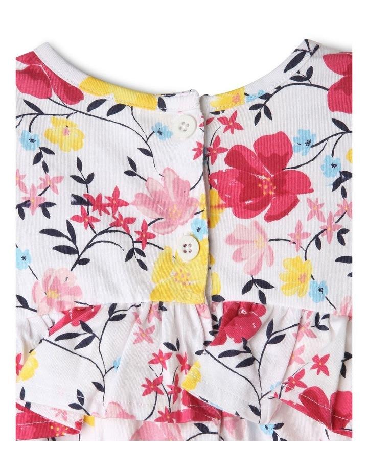 Ruffle Floral & Vines Print Dress image 3