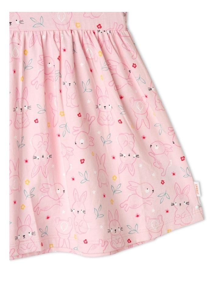 Flutter-Sleeve Bunny Print Dress with Pompom Trim image 5