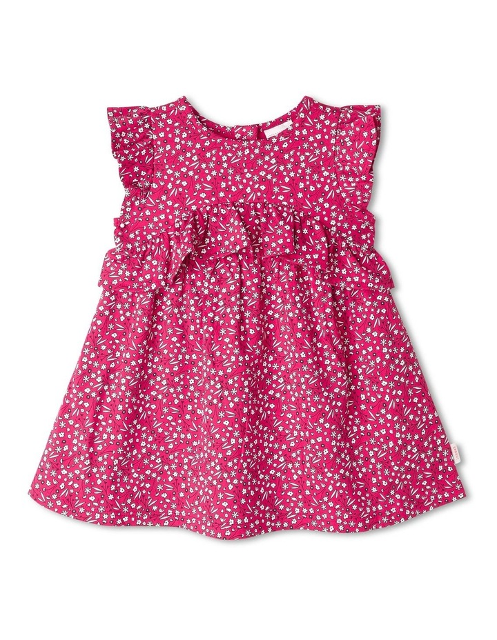 Ruffle Heart Floral Print Dress image 1