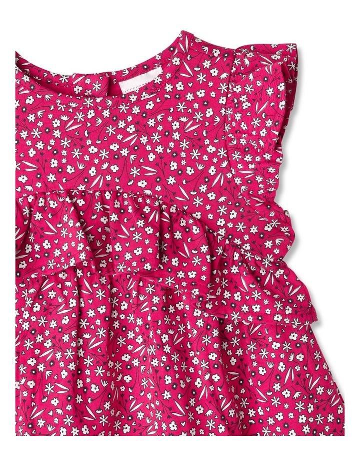 Ruffle Heart Floral Print Dress image 2