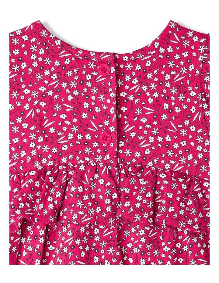 Ruffle Heart Floral Print Dress image 4