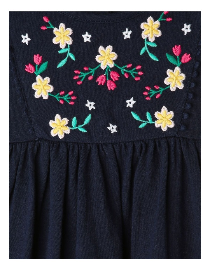 Jersey Folk Dress with Embroidered Bodice image 3