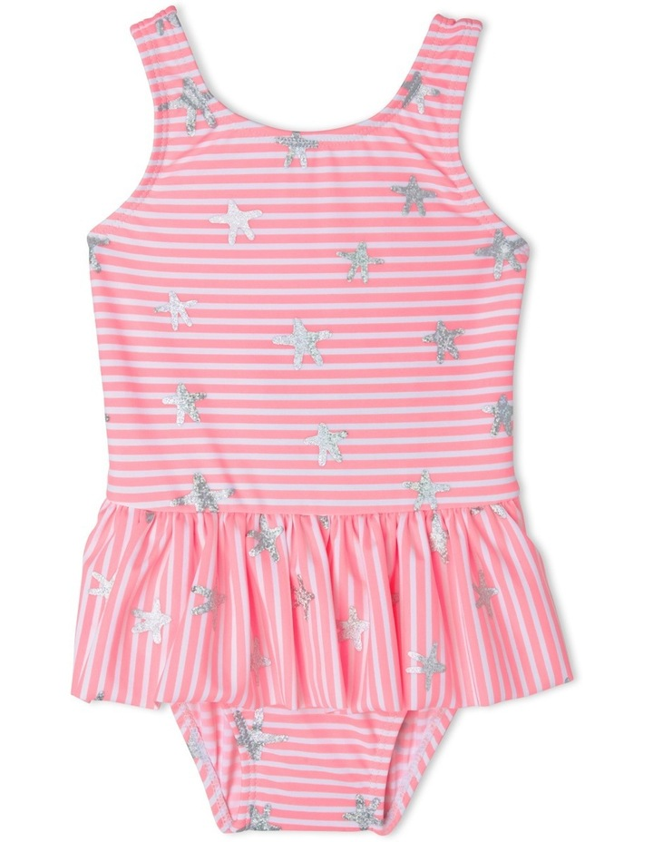 Girls Foil Star One Piece Swimsuit - Chlorine Resistant image 1