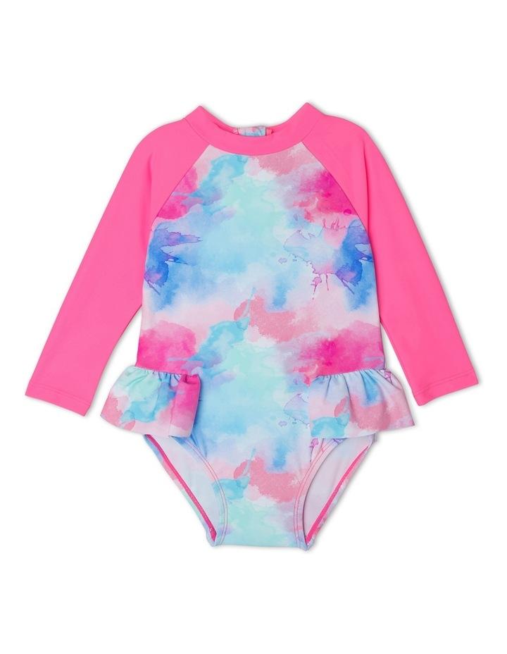 Girls Frill Swimsuit - Chlorine Resistant image 1