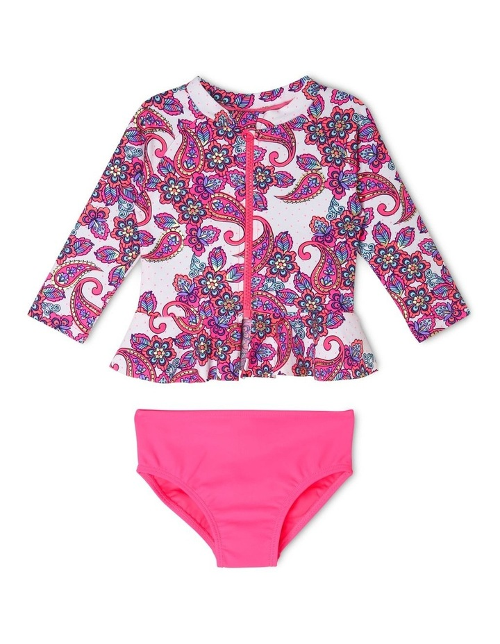 Girls Long-Sleeve Rash Vest Set image 1