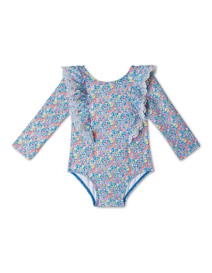 Broderie Frill Long Sleeve Swimsuit image 1