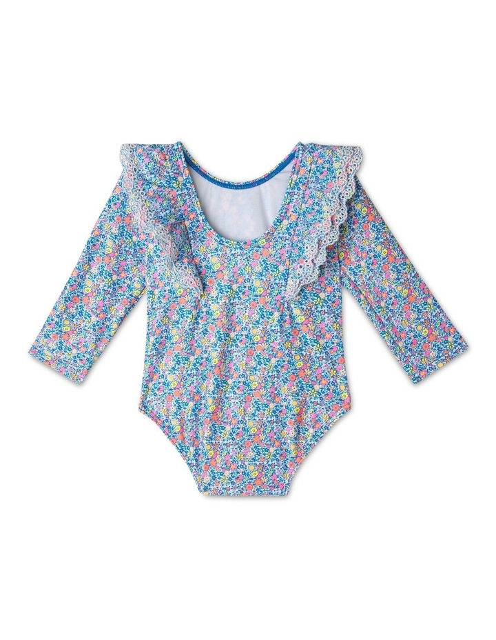 Broderie Frill Long Sleeve Swimsuit image 2
