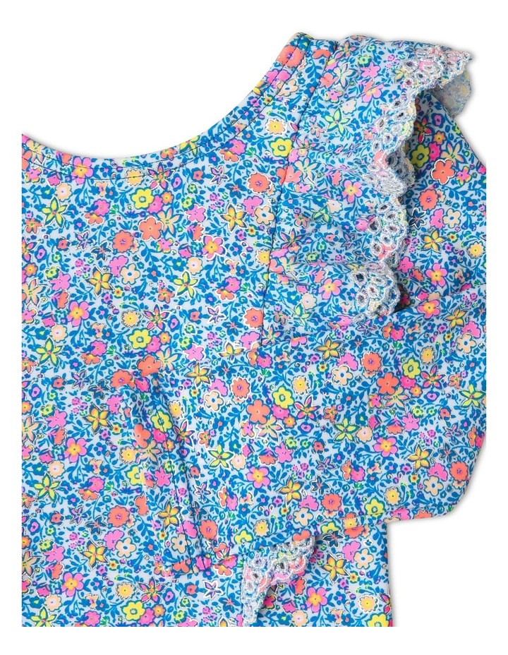 Broderie Frill Long Sleeve Swimsuit image 3