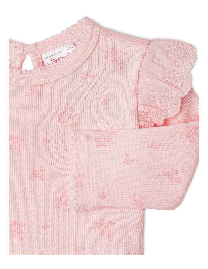 Organic Essential Rib Floral Bodysuit image 2