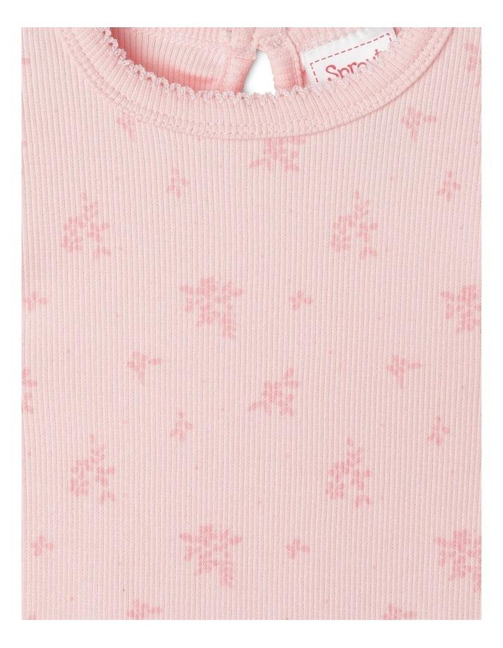 Organic Essential Rib Floral Bodysuit image 3