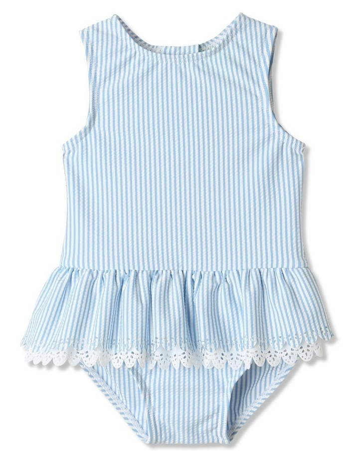 Tier Frill Swimsuit Blue image 1