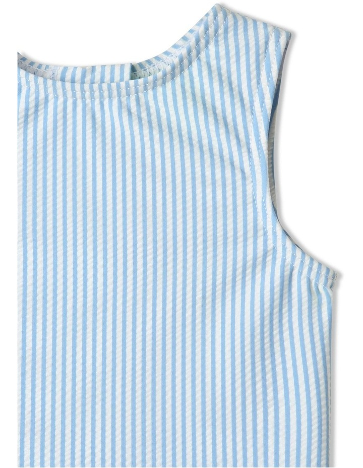 Tier Frill Swimsuit Blue image 3