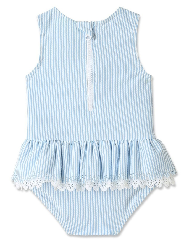 Tier Frill Swimsuit Blue image 4