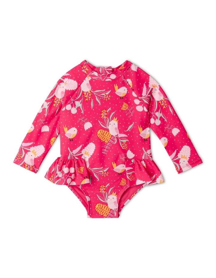 Aussie Flora & Fauna Swimsuit Raspberry image 1