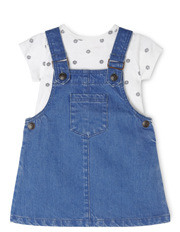 Girls Pinafore Dress & Top Set