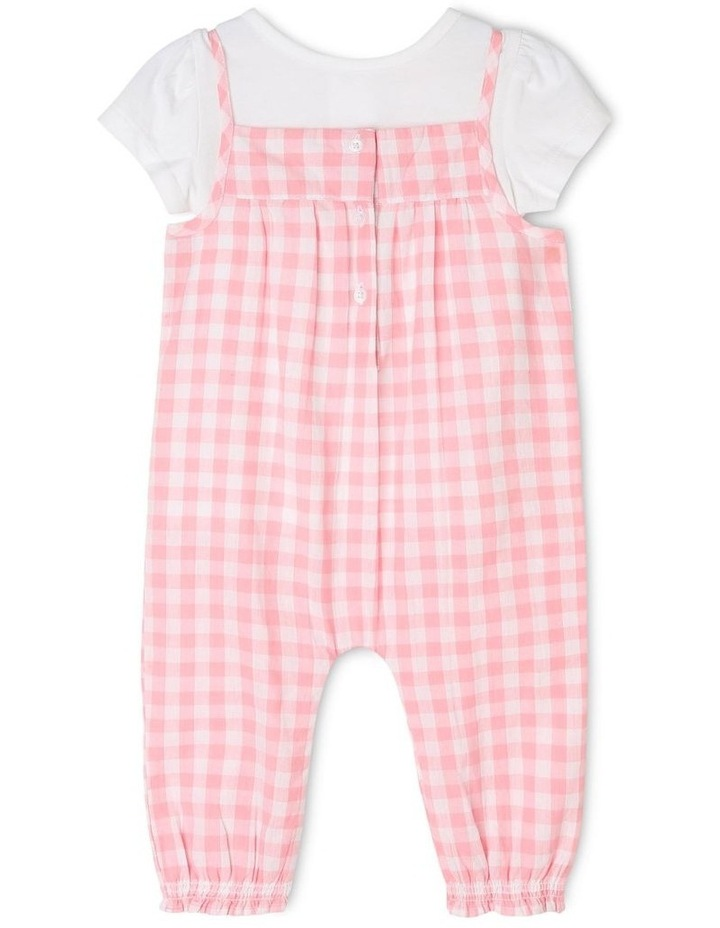 Girls T-Shirt and Overall Romper Set image 1