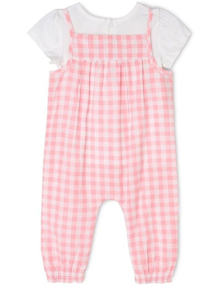 Girls T-Shirt and Overall Romper Set image 2