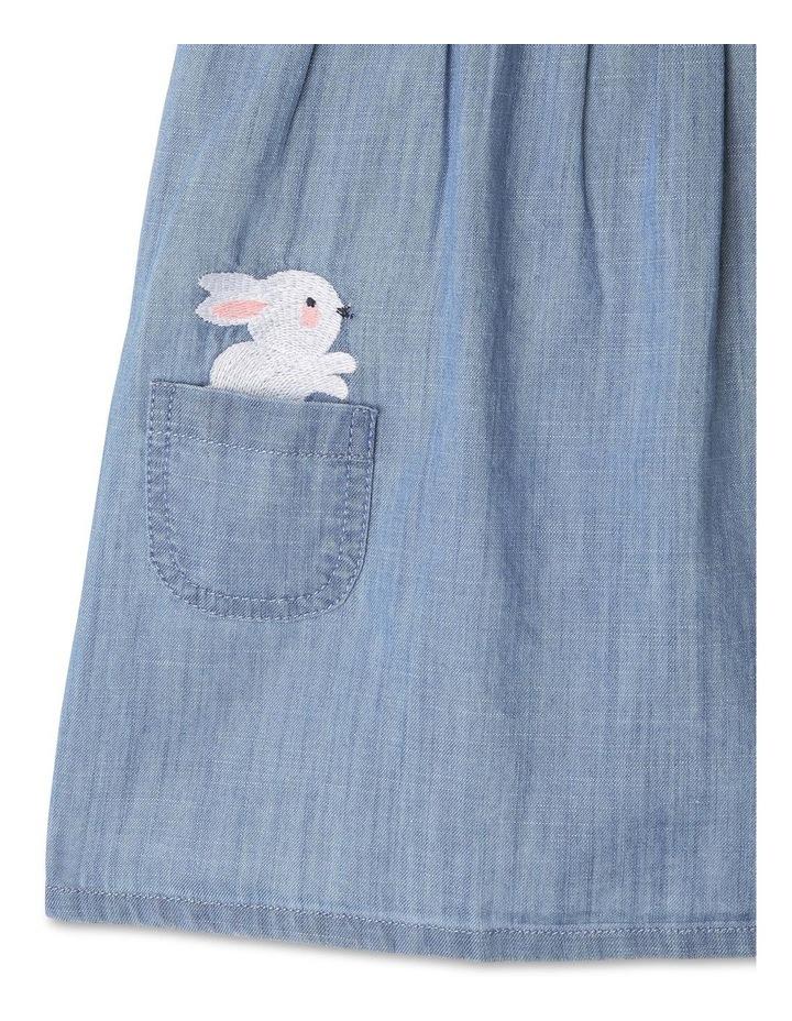 Chambray Bunny Play Pinafore Set image 4