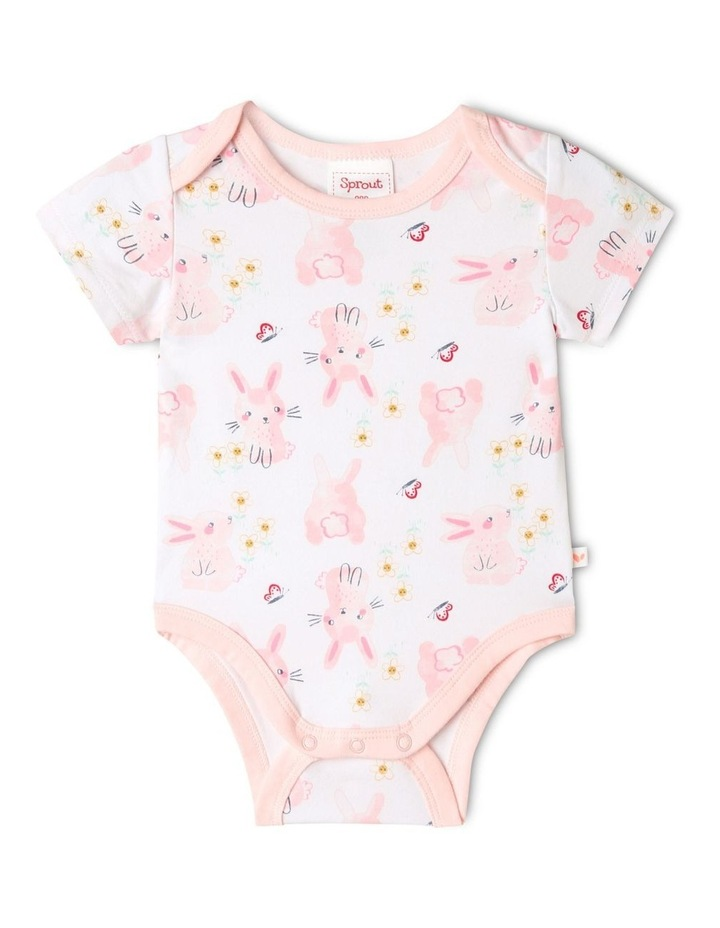 Organic Essential Bunny Bodysuit Set in Pale Pink image 2
