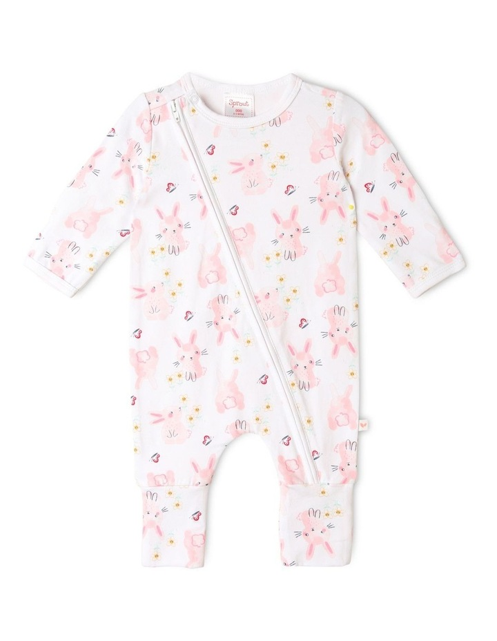 Organic Essential Bunny Coverall Set in Pale Pink image 2