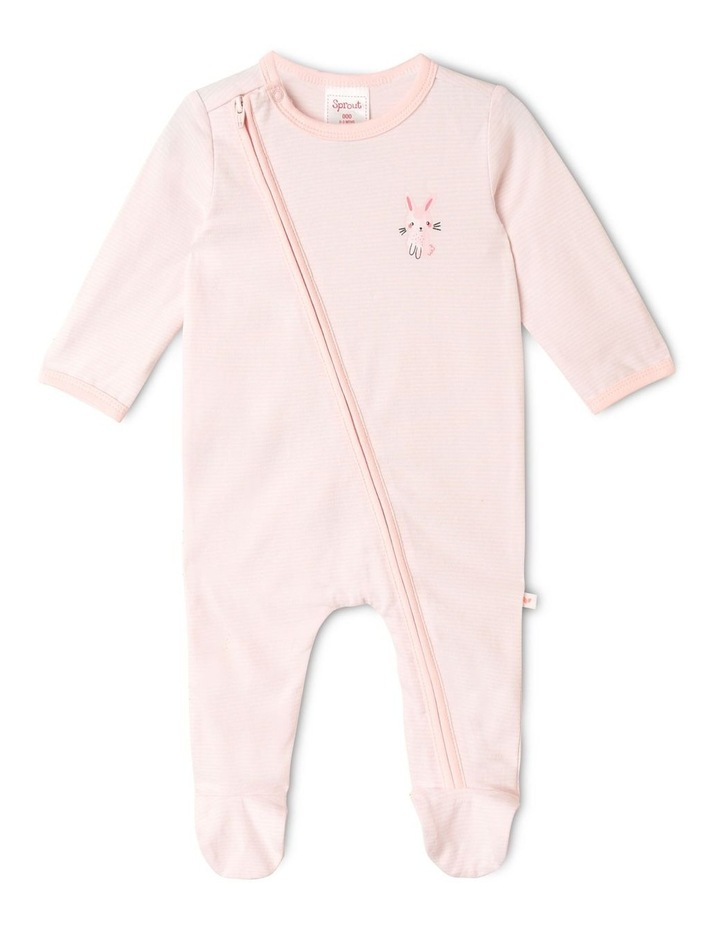Organic Essential Bunny Coverall Set in Pale Pink image 5