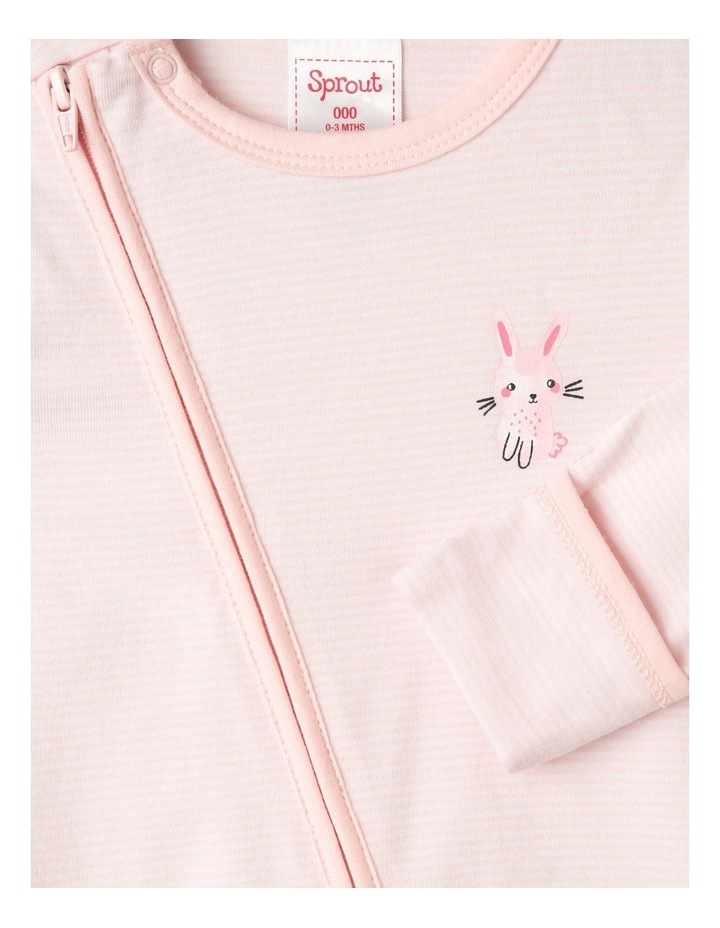 Organic Essential Bunny Coverall Set in Pale Pink image 6