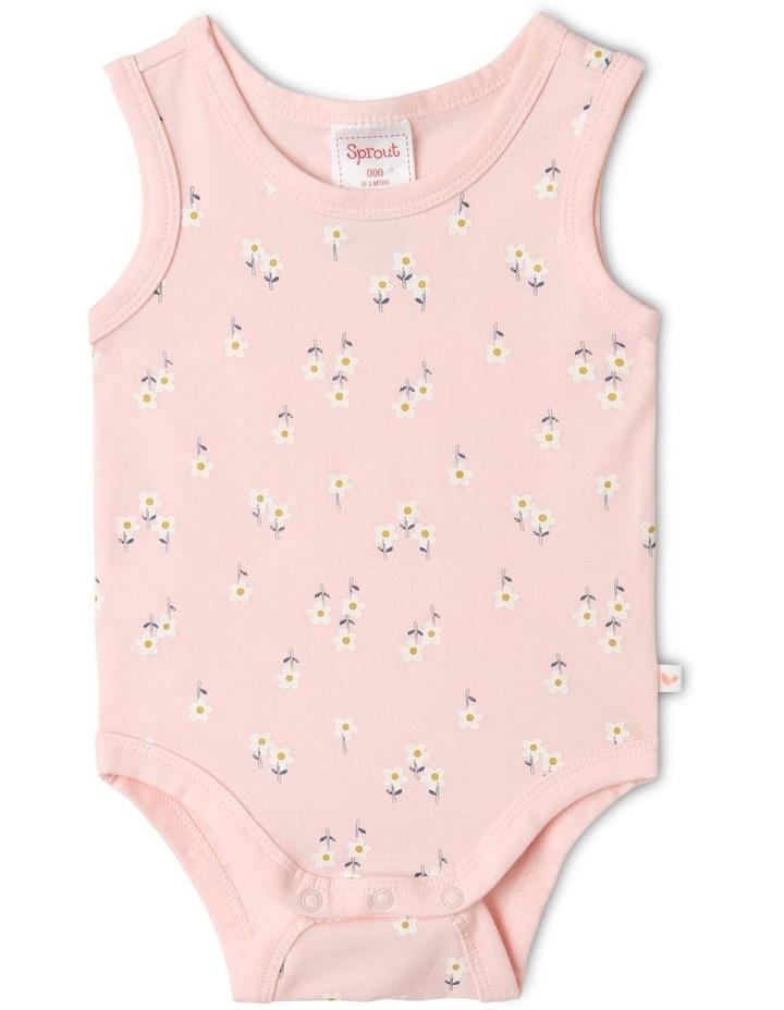 Organic Essential Floral Bodysuit Set in Pale Pink image 5