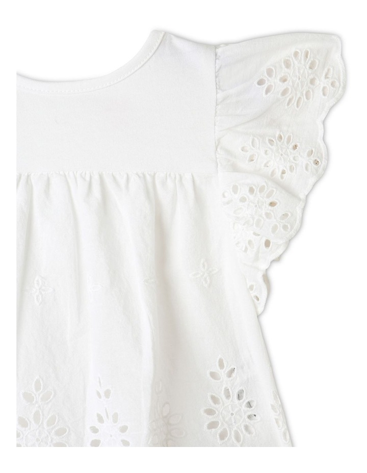 Broderie Tee and Short Set in White image 2