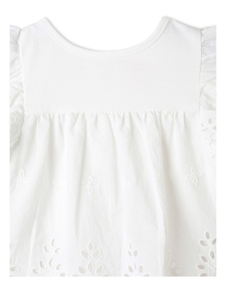 Broderie Tee and Short Set in White image 3