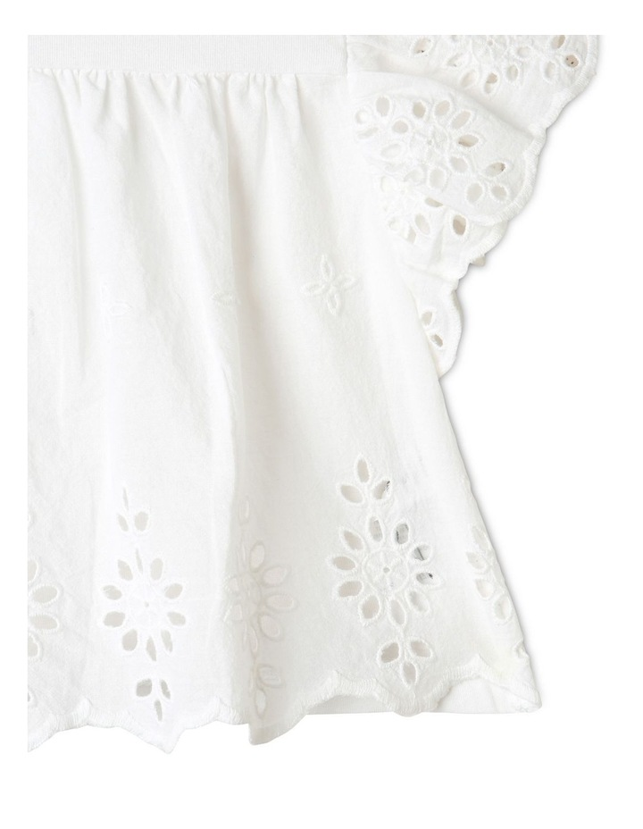 Broderie Tee and Short Set in White image 4