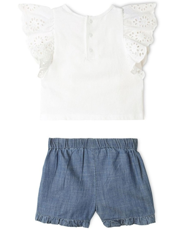 Broderie Tee and Short Set in White image 6